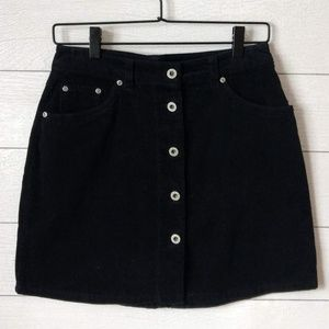 GAP Navy Blue Corduroy Button Front Skirt 6